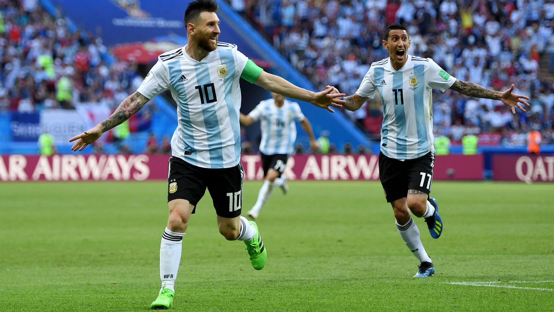 Angel Di Maria Lionel Messi France Argentina World Cup 30062018