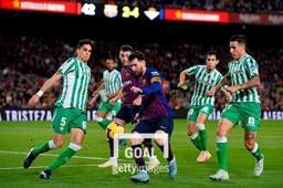 라리가 12라운드에서 리그 선두 바르셀로나에 4-3 승리를 거둔 레알 베티스. 사진=게티이미지