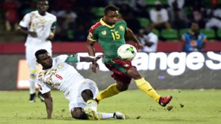 Mame Biram Diouf challenges Cameroon's midfielder Sebastien Siani during the 2017 Africa Cup of Nations