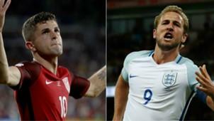 Christian Pulisic Harry Kane US England friendly