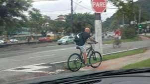 Sampaoli Bicicleta Santos Brasil 18042019
