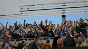 Chelsea fans at Camp Nou