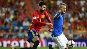Gerard Pique Ciro Immbile Spain Italy WC Qualifiers