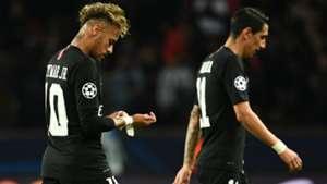 Neymar Angel Di Maria PSG Napoli UEFA Champions League 24102018