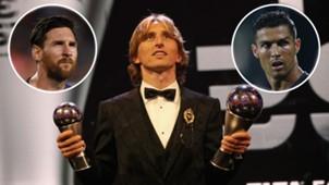 Luka Modric Cristiano Ronaldo Lionel Messi GFX