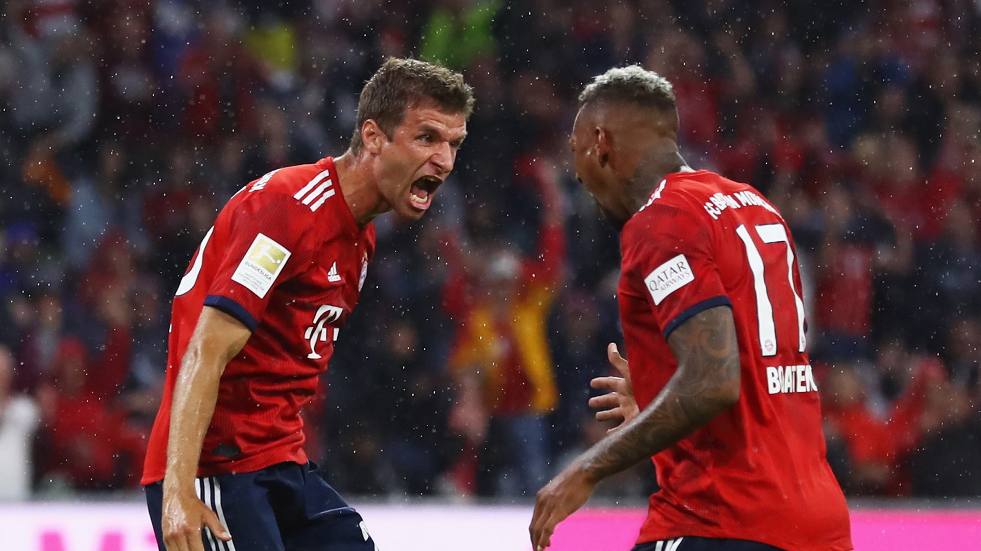Thomas Muller Jerome Boateng Bayern Munich 24082018