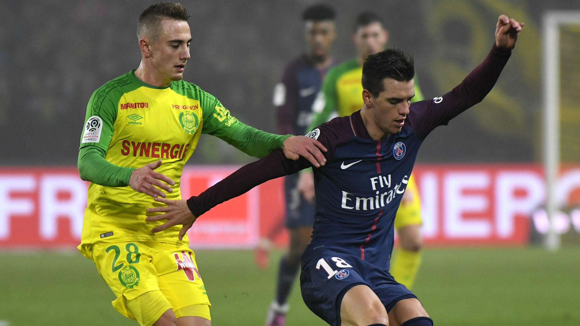 Giovanni Lo Celso Valentin Rongier Nantes PSG Ligue 1 14012018