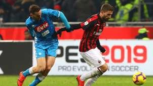 Fabio Borini Fabian Ruiz Milan Napoli Serie A