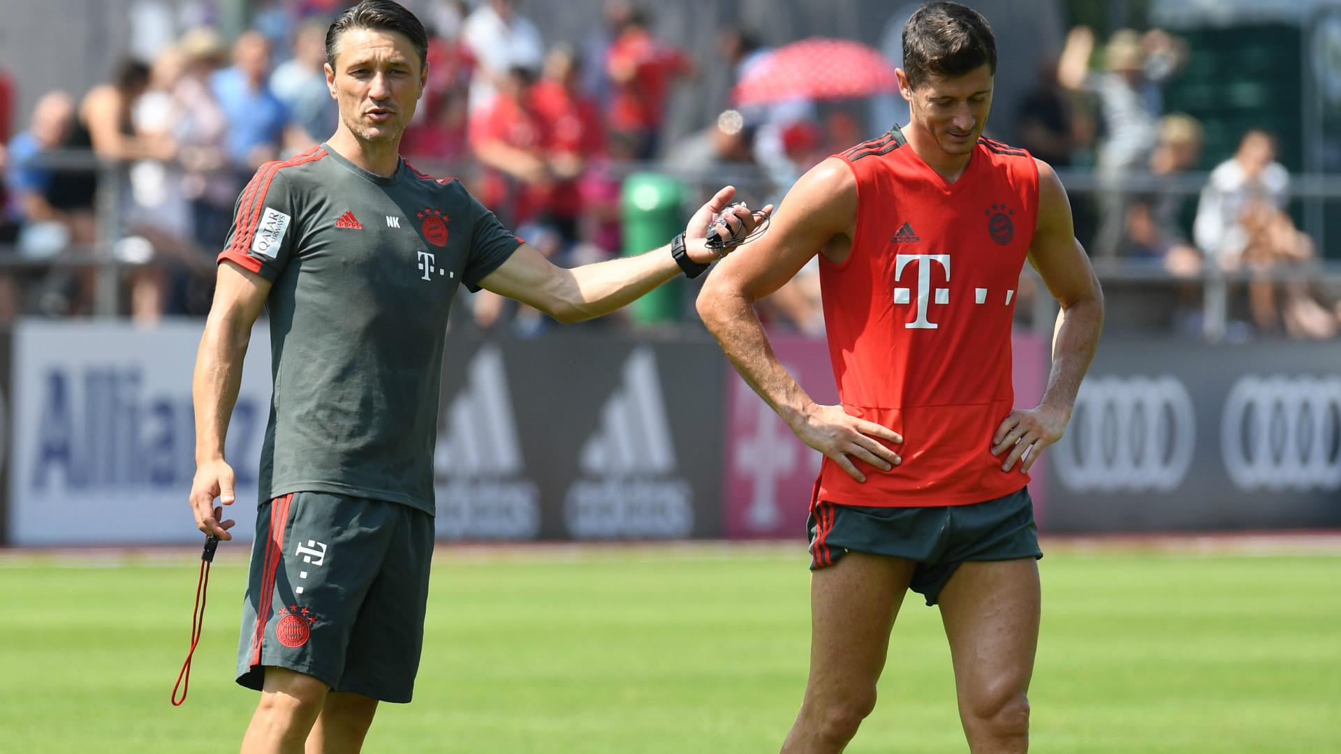 Niko Kovac Robert Lewandowski FC Bayern 06082018