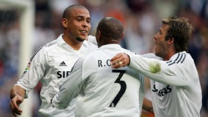 Ronaldo Robert Carlos David Beckham Real Madrid