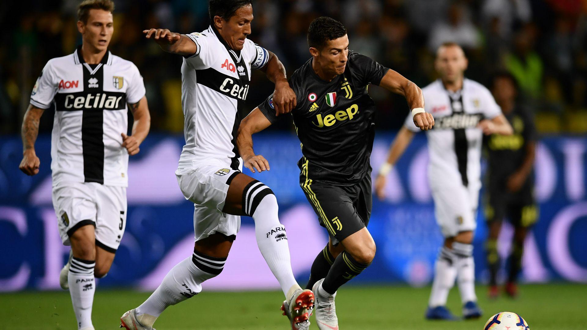 Cristiano Ronaldo Bruno Alves Parma Juventus Serie A