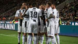 Juventus celebrating Inter Serie A
