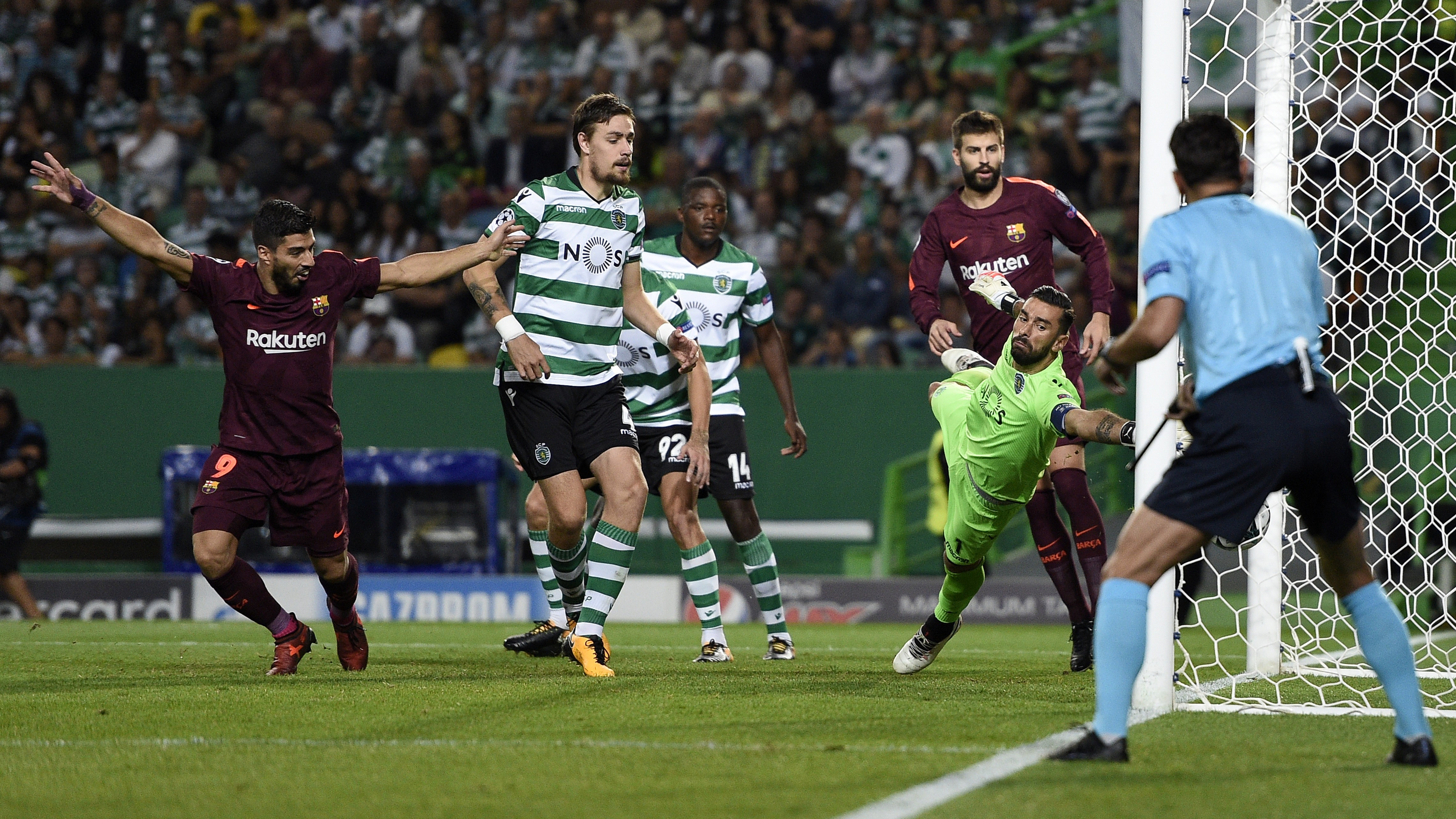 Gol Sporting CP Barcelona UCL 27092017