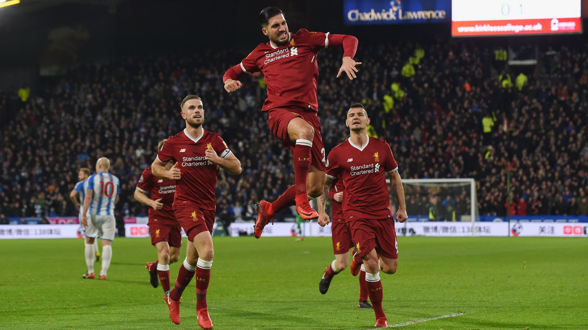 Emre Can Liverpool Huddersfield EPL 01312018