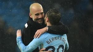 Pep Guardiola Bernardo Silva Manchester City