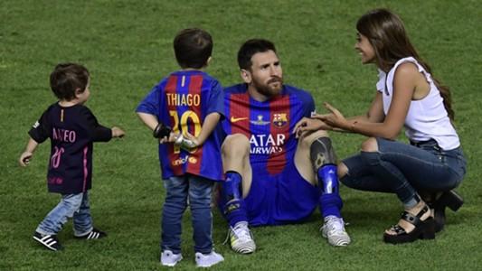 Lionel Messi Antonella Roccuzzo Barcelona Alavés Copa del Rey 27052017