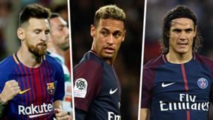 Lionel Messi Neymar Edinson Cavani GFX