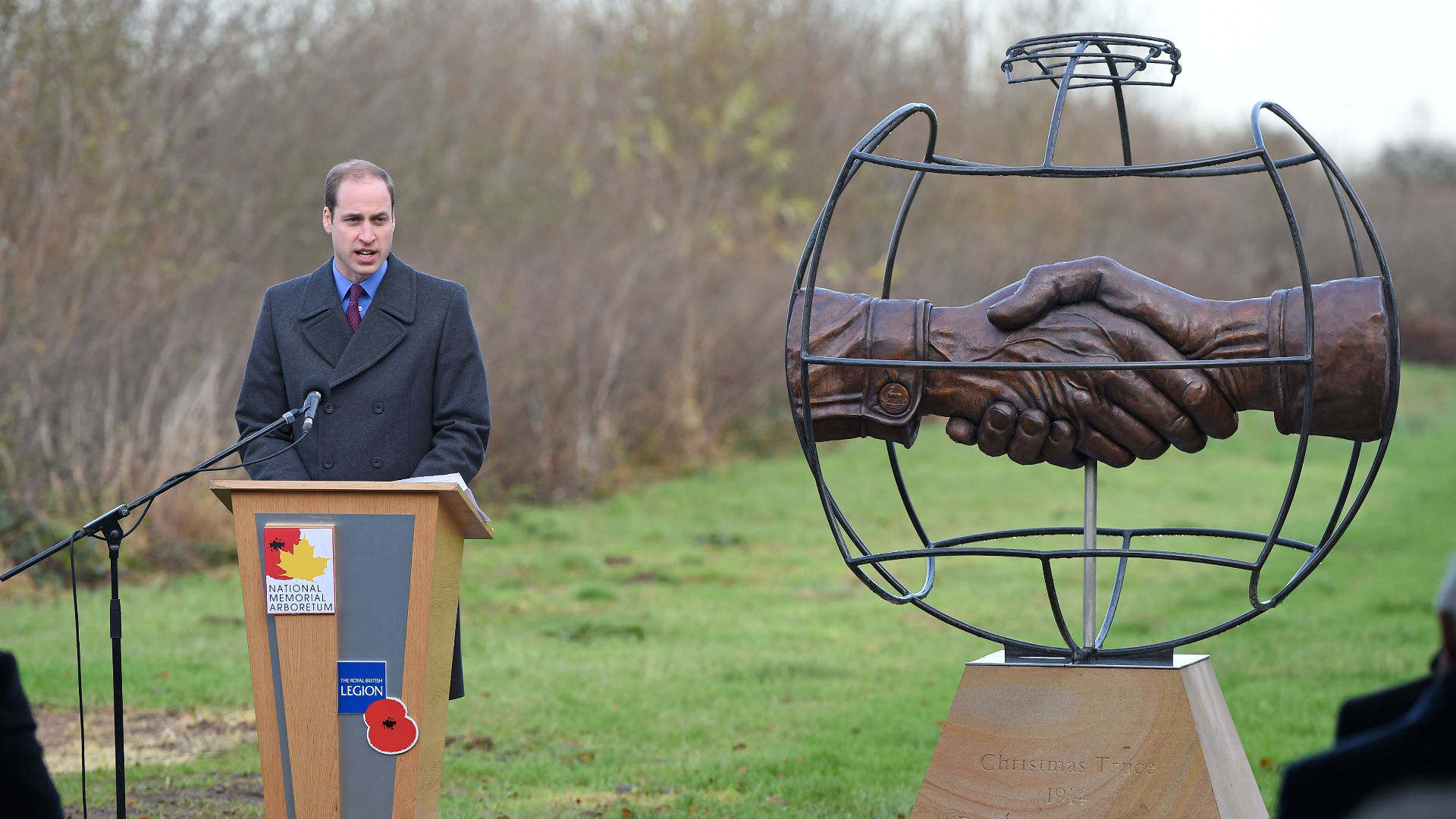 Christmas truce Prince William National Memorial Arboretum 2014