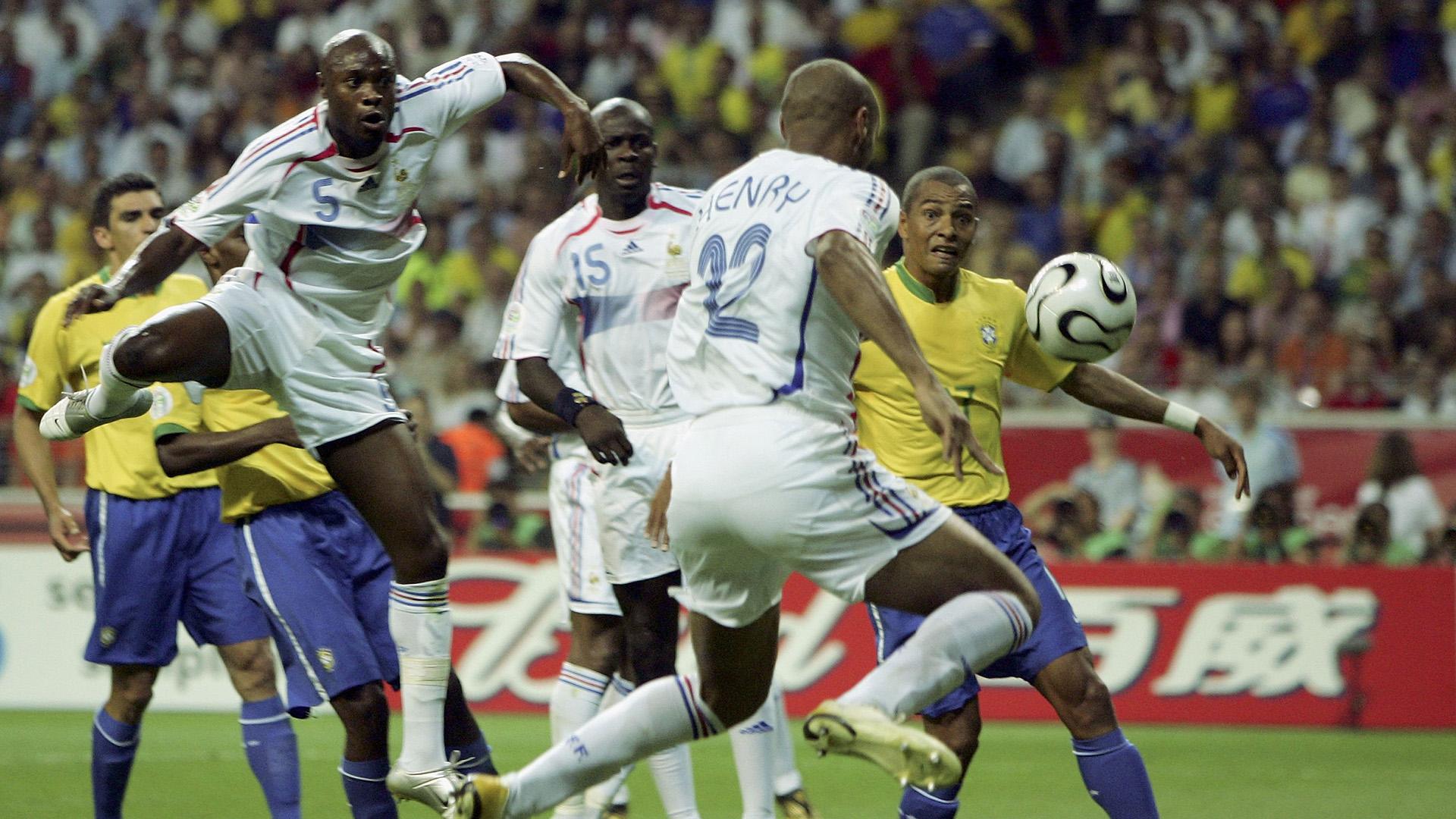 Henry goal Brazil France 2006 World Cup 01072006