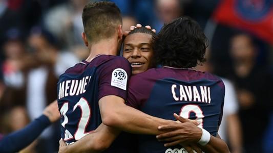 Kylian Mbappe Edinson Cavani Thomas Meunier PSG Bordeaux Ligue 1 30092017