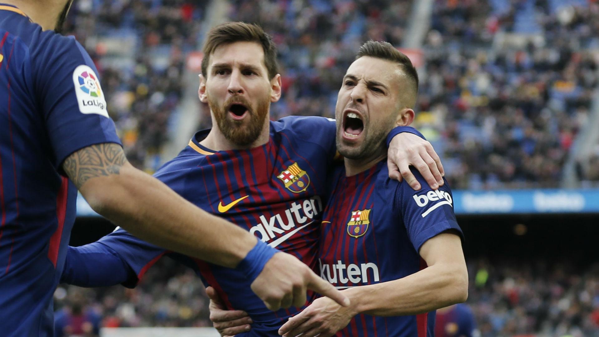Lionel Messi Jordi Alba Barcelona