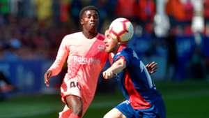 Moussa Wagué Javi Galán Huesca Barcelona LaLiga 13042019