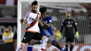 Marcelo Larrondo Fernando Pinillo River Emelec Copa Libertadores 10052017