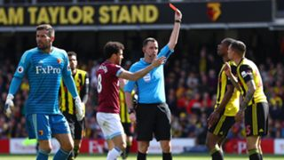 Watford's Jose Holebas red vs West Ham