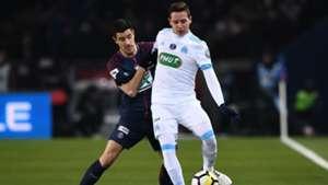 Yuri Berchiche Florian Thauvin PSG Marseille Coupe de France 28022018.jpg