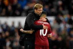 Newcastle vs Liverpool Coutinho Jurgen Klopp