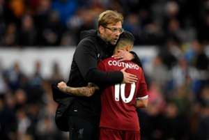 Newcastle vs Liverpool Coutinho Jurgen Klopp