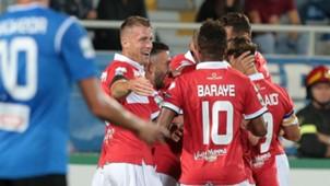 Parma celebrates Barillà goal against Novara Serie B 03092017