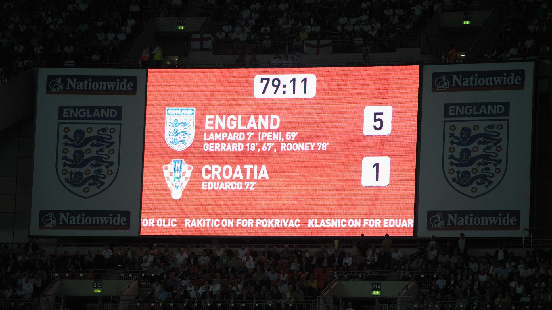 england croatia - world cup qualifiers - 2009