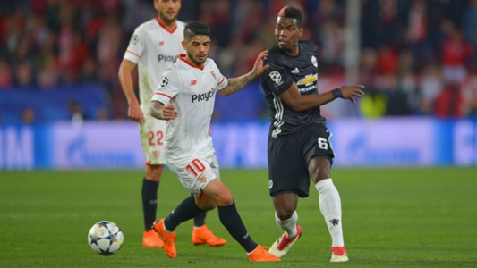 Paul Pogba Ever Banega Sevilla Manchester United UCL 21022018