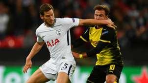 Mario Gotze Jan Vertonghen Tottenham Borussia Dortmund