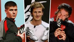 Steven Gerrard David Beckham Alessandro Del Piero split