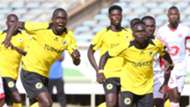 Tusker FC players vying for the ball
