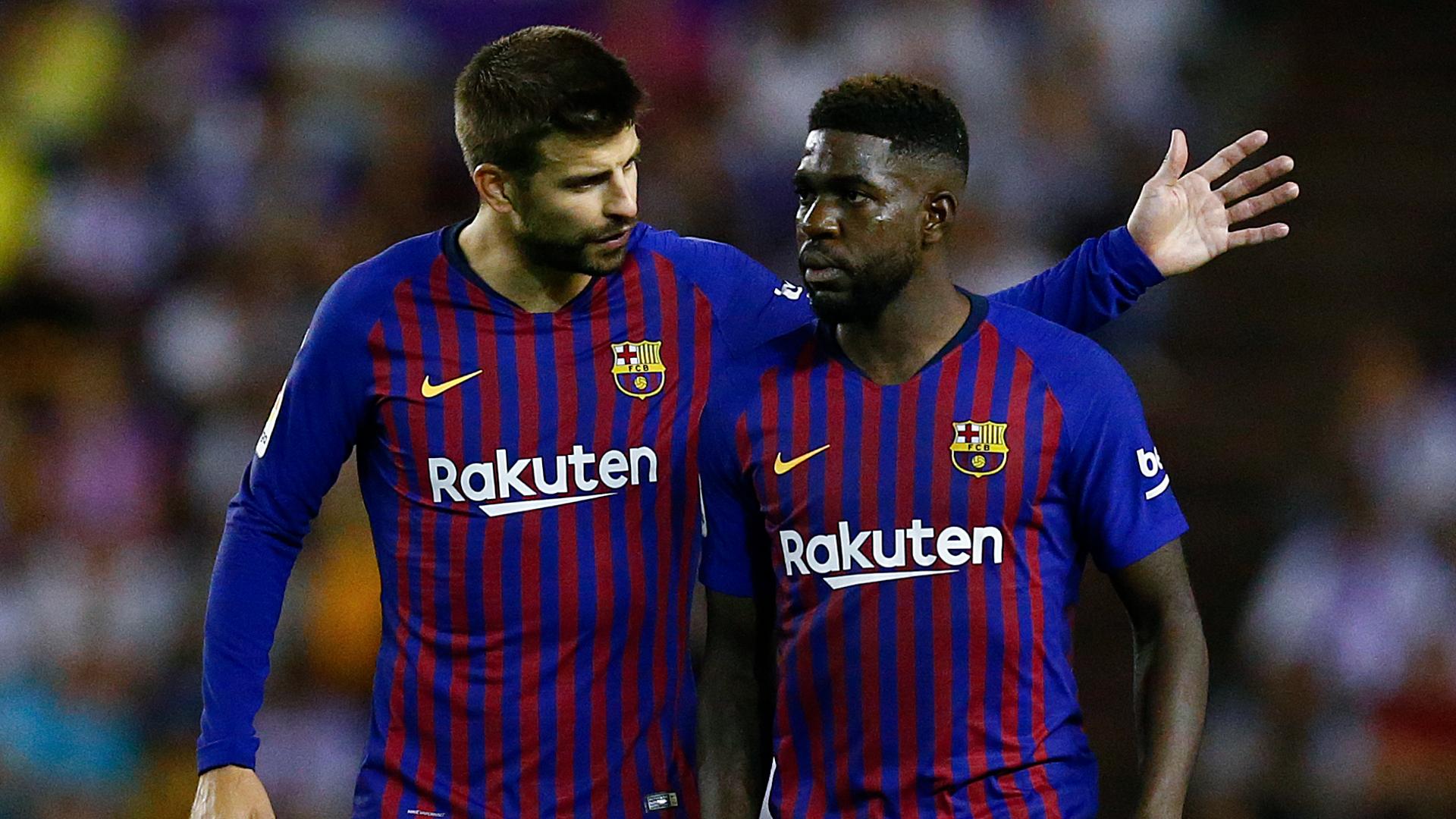 Gerard Pique Samuel Umtiti Barcelona