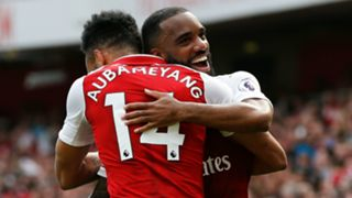 Alexandre Lacazette Pierre-Emerick Aubameyang Arsenal 2017-18