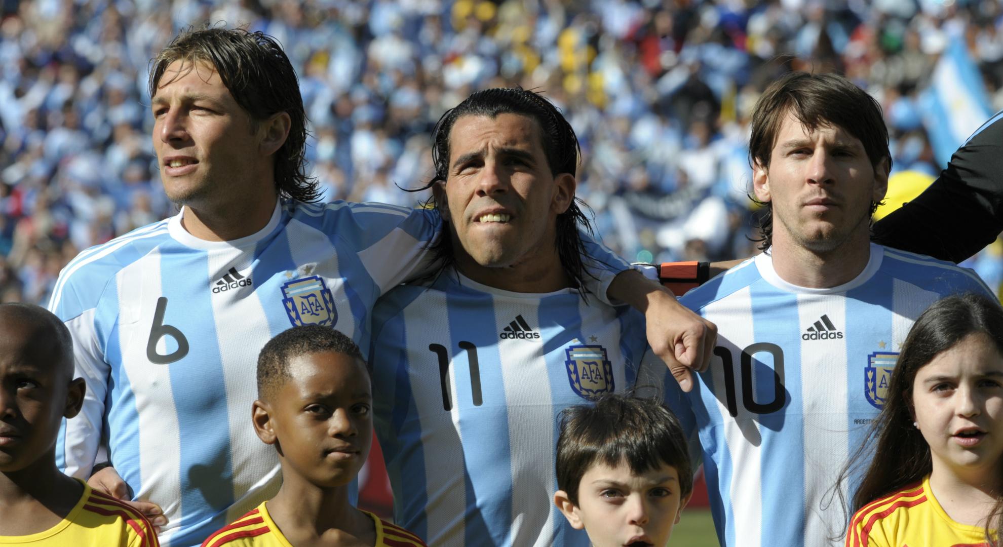 Carlos Tevez Gabriel Heinze Lionel Messi