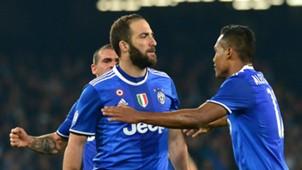 Gonzalo Higuain Alex Sandro Napoli Juventus