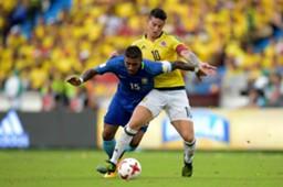 James Rodríguez Colombia - Paulinho Brasil Eliminatoria Sudamericana 05092017