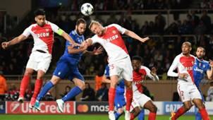 Kamil Glik Radamel Falcao Gonzalo Higuain Monaco Juventus UEFA Champions League 05032017