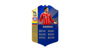 FIFA 18 Ultimate Team of the Season James Rodriguez