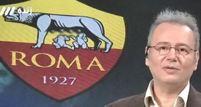 Iranian TV blurs Roma logo