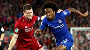 James Milner Willian Liverpool Chelsea 2018-19
