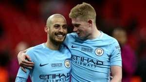 David Silva Kevin De Bruyne Manchester City 2017-18