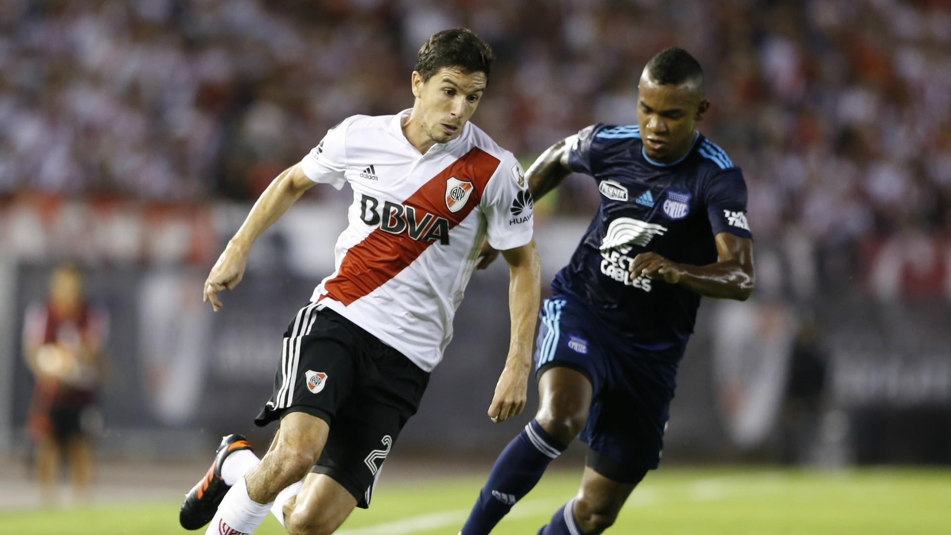 Nacho Fernandez Dixon Arroyo River Emelec Copa Libertadores Fecha 4 Grupo D