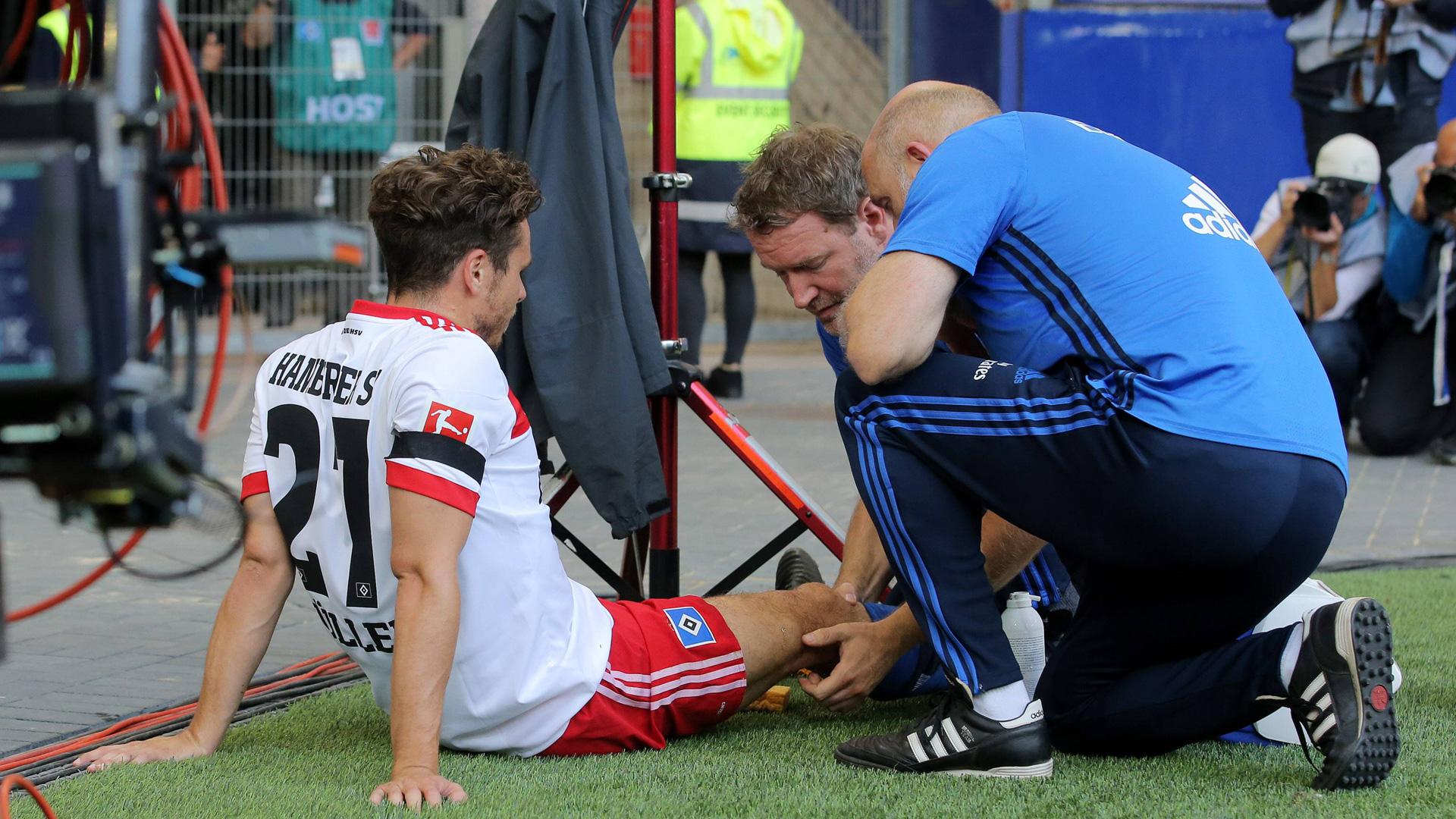 HSV: Müller verletzt sich bei Torjubel-Fauxpas