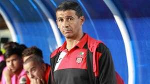 USM Alger coach Miloud Hamdi v Gor Mahia.